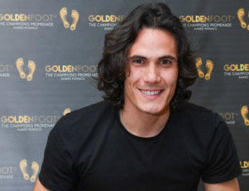 Mónaco: Cavani fue premiado con el Pie de Oro junto a leyendas como Pirlo y Seedorf