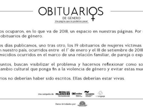 """""""Ellas deberían estar vivas""""- ONU Mujeres crea la campaña Obituarios de Género para sensibilizar sobre violencia machista"""