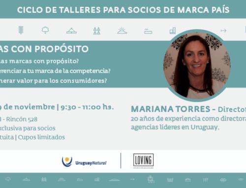 Las marcas con propósito, analizadas por Mariana Torres, serán el centro del último Taller del año de marca país