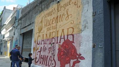 Mural con los valores de la cooperación fue inaugurado en Montevideo