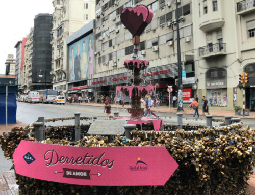 Bar Facal y Azúcar Bella Unión intervienen la fuente de los candados