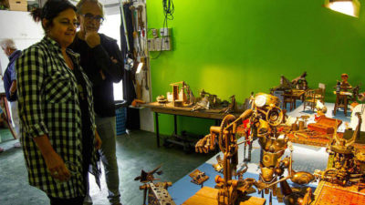 Pintura y escultura de los referentes del stop motion uruguayo