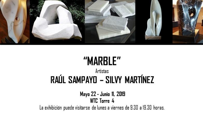 Desde mañana ACCS Visual Arts presenta esculturas de Raúl Sampayo y Silvy Martínez en la muestra Marble