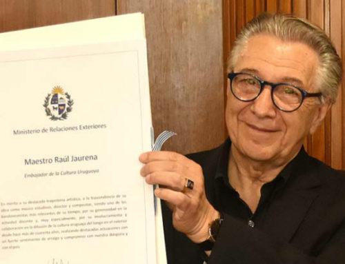 Maestro Raúl Jaurena galardonado como embajador de la cultura uruguaya