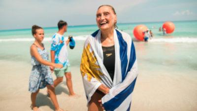 Del río Uruguay al mundial de natación en Corea del Sur: una abuela que inspira