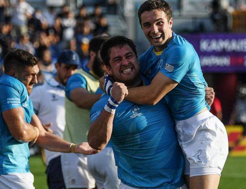 El emotivo final del histórico triunfo de Uruguay en el Mundial de Rugby