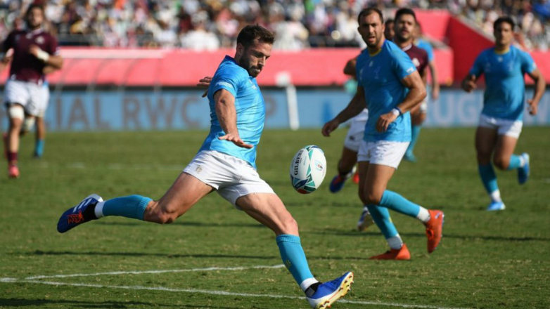 Berchesi quedó como el máximo goleador de Uruguay en la historia de los Mundiales