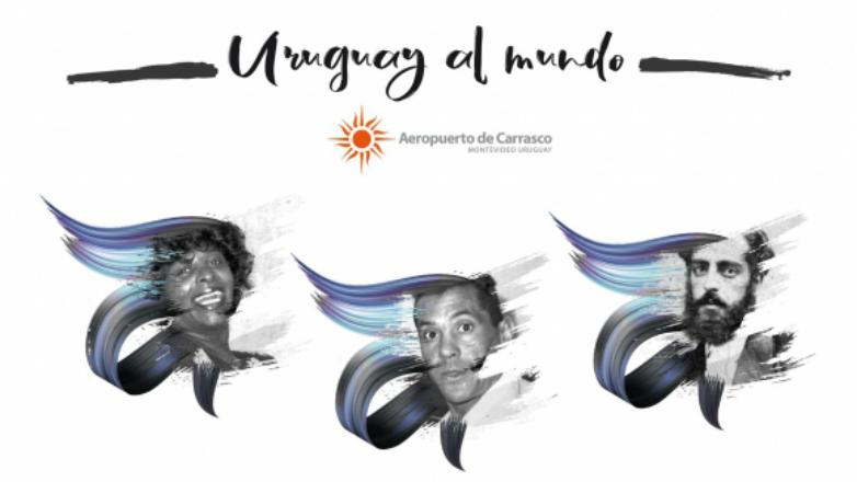 Aeropuerto de Carrasco celebra la cultura nacional con un mural con personalidades