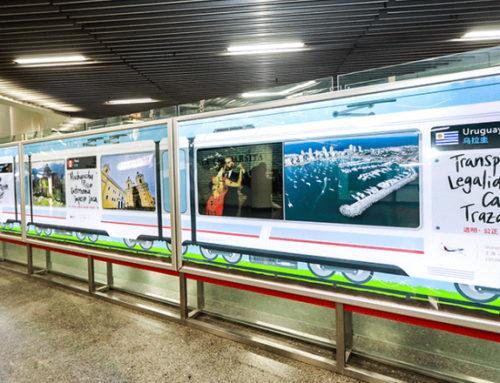 Uruguay Natural participa en exposición hispana en estación de metro de Shanghai
