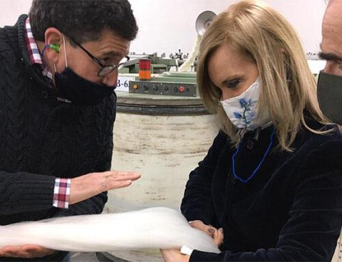 Inés Bonicelli, vicedirectora de Uruguay XXI y Beatriz Argimón visitaron Lanas Trinidad