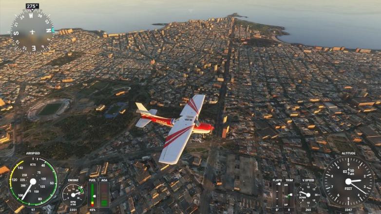 Así se ve Uruguay en el simulador de aviones de Microsoft