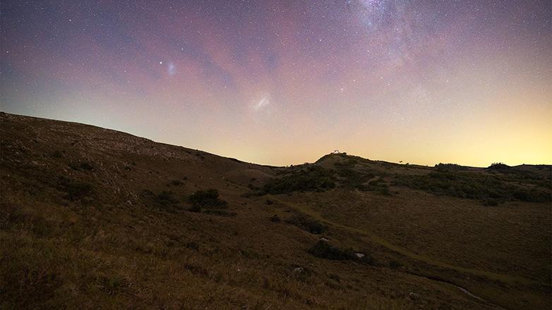 The night sky at Hilo de la Vida valley, Lavalleja