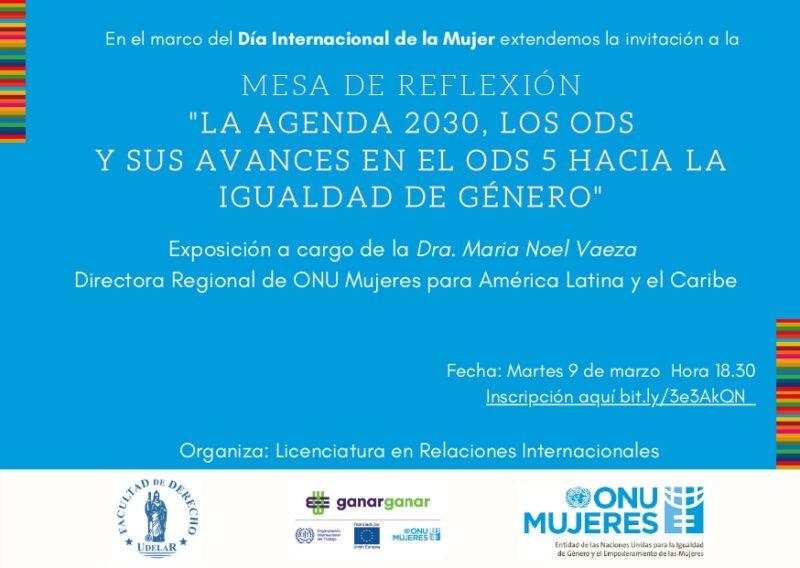 """""""La agenda 2030, los ODS y sus avances en el ODS 5 hacia la igualdad de género"""""""